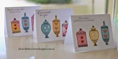 A Set of 3 Cards ~ Sweet As Sugar ~ Clean and Simple using Close to My Heart Stamps, papers and embellishments.