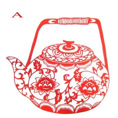 100% hand paper cutting craft Tea pot pattern gift, antique imitation gift paiting, business craft gift free shipping