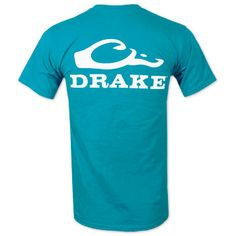7c5567bbe38 Drake Waterfowl Systems Logo T-Shirt - Teal Waterfowl Hunting