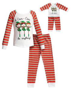 Dollie   Me Can-Can Girls Long Sleeves Snug Top and Pajama - 2 -Piece  Outfit with Matching Doll Set (Little Girls and Big Girls) bd3c7e995