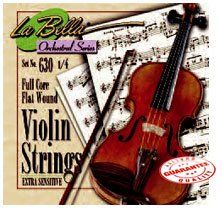 LA BELLA HANDMADE VIOLIN STRING SET 4/4 by La Bella. $24.95. La Bella Steel Core flat wound strings violin set.. Save 29% Off!