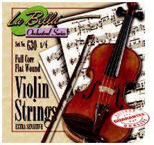 LA BELLA HANDMADE VIOLIN STRING SET 1/4 by La Bella. $22.99. La Bella Steel Core flat wound strings violin set.