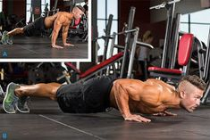 It is true that going to the gym is optimal when your goal is to build a significant amount of muscle mass. But, that doesn't mean you cannot build an appreciable amount of muscle using body weight exercises. Here are my top bodyweight exercises t. Gym Chest Workout, Triceps Workout, Chest Workouts, Gym Workouts, At Home Workouts, Bodybuilding Workout Plan, Basic Workout, Muscles In Your Body, Weight Training Workouts