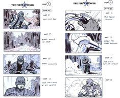 ArtStation - Captain America Joe Johnston Prod Design Rick Heinrichs, Rodolfo Damaggio Captain America Sketch, Captain America Movie, Moebius Art, Joe Johnston, Art Basics, Drawing Techniques, Storyboard, Storytelling, Comic Art