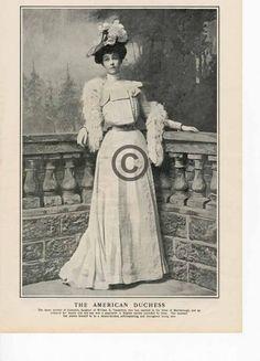 1901 Consuelo Vanderbilt Portrait Print American Ducess Marlborough