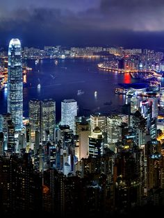 Hong Kong City Night Skyline -- my most favourite city in the world!!!!