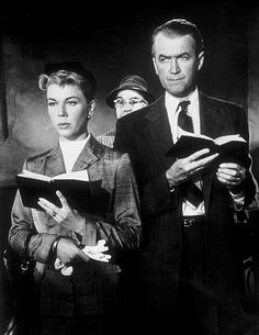 James Stewart and Doris Day - The Man Who Knew Too Much (Alfred Hitchcock, A brilliant performance from doris day and jimmy stewart both great actors don't make actors like these anymore Alfred Hitchcock, Hitchcock Film, Classic Hollywood, Old Hollywood, Hollywood Couples, Hollywood Stars, I Movie, Movie Stars, Drame