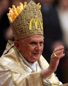 Pope gets some product placement happening - and he knows how to work it!