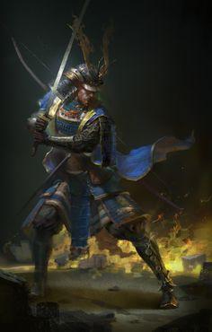 ArtStation - Eastern Samurai 东方武士, Qi Wang