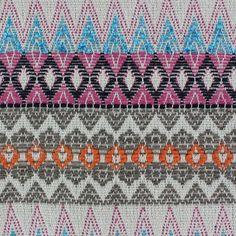 Tissu Aztec Multi Noir x 10cm