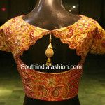 Exquisite latest trendy Blouse Designs for Kanjeevaram wedding silk sarees Wedding Saree Blouse Designs, Pattu Saree Blouse Designs, Fancy Blouse Designs, Saree Wedding, Beautiful Blouses, Work Blouse, India Fashion, Blouse Patterns, Blouse Styles