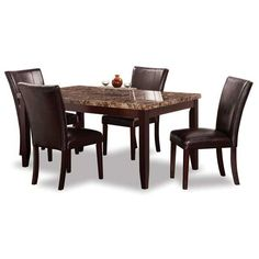 dining set 2221 5pc full dining set by american furniture warehouse