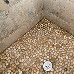 Glazed Java Tan Pebble Tile - shop for pebbles Source by kathybither Shower Floor, Tile Floor, Pebble Tile Shower, Mobile Home Repair, Bathroom Flooring, Hall Bathroom, Bathrooms, Trailer Decor, Home Fix