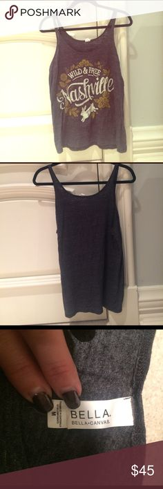Wild & Free Tank Cute quality material tank worn minimally that I bought in Nashville TN in summer 2015. Tops Tank Tops