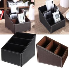 Material: PU leather. Can be used for general household. 1 x remote control storage box (other accessories are not included). Suitable for the living room, office, salon and so on. Use of comfortable and environment friendly leather material. | eBay!