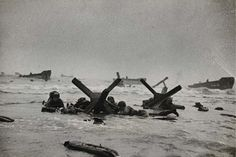 Robert Capa, D-Day invasion from Images of War , 1944