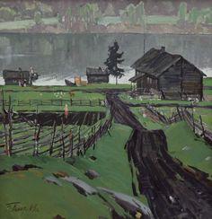 Indie Kunst, Indie Art, Russian Painting, Russian Art, Art And Illustration, Landscape Art, Landscape Paintings, Nocturne, Van Gogh Art