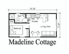 Resultado de imagen para 12 x 24 cabin floor plans