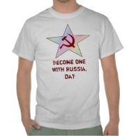 "Hetalia Russia Star Shirts ""Become one with Russia, Da?"""