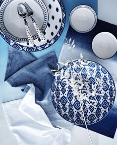 Got the winter blues? Turn them into something beautiful for your home with Sainsbury's Moroccan blues collection.