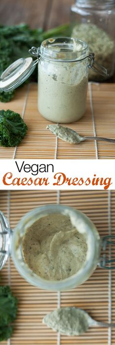 VEGAN CAESAR SALAD  A delicious, creamy vegan Caesar salad dressing that will fool anyone! It's garlicky, briny, and even cheesy, and delicious on any greens you're craving, or even as a dip. It's ready in 10 minutes and is really easy to make.