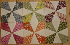 Sneaky Peeky by Sugar_Stitches -- This Kaleidoscope block is one that I want to make in 2 fabrics - red and white!