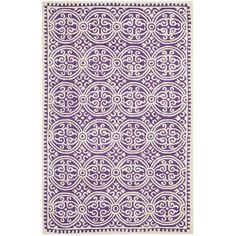 Gefunden bei Wayfair.de - Handgetufteter Teppich Palmer in Lila/Elfenbein