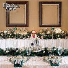 Winter Wonderland: A Christmas Tablescape  A Winter Wonderland themed tablescape!   #Christmas #Winter #wonderland #celebrate #celebration #decor #dining #dinner #eve #place #plate #setting #silver #table #tablescape #snowflake #holiday #magicalgiggles