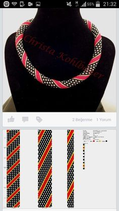 "Схема плетения жгута & Driving braid beads. Колье-жгут из бисера ""Геометрия"" - геометрический рисунок:"