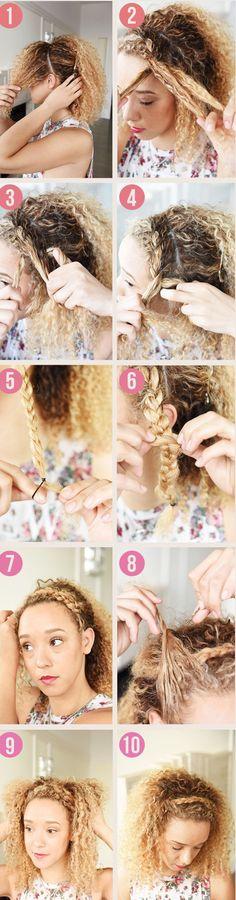 Haz un linda diadema usando tu propio cabello. | Los 19 peinados más trendy para graduarte con estilo