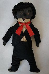 Antique boy cloth doll with original cloths and a great face. - Pat Hatch Antiques #dollshopsunited