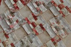 miniature quilt: The seams are clipped so that the seams for each nine-patch can be pressed toward the alternating square.