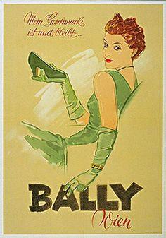 Bally Vintage Poster 1952