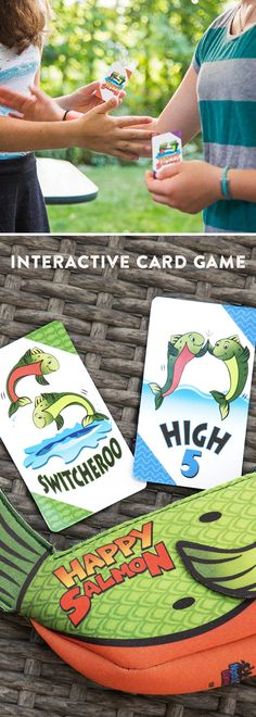 High five, fist bump, and run around to swap places with other players. This rambunctious card game gets the whole family moving and laughing.Great for family game night. School Games For Kids, Art Games For Kids, Sunday School Games, Carnival Games For Kids, Summer Camp Games, Water Games For Kids, Games For Teens, Family Game Night, Family Games