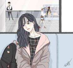 Wonderful drawing~😄😍 - - Cr: DM if u know - - Tags~ Anime Art Girl, Manga Art, Girl Cartoon, Cartoon Art, Tmblr Girl, Animé Fan Art, Pelo Anime, Dibujos Cute, Korean Art