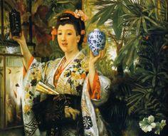 James Tissot: The Japanese Vase, 1865