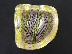 Vetreria Archimede Seguso Murano 1950s zanfirico glass bowl