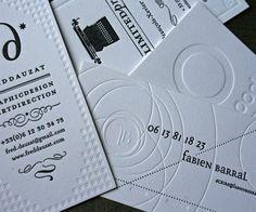 Cretive Four Friends Letterpress Business Cards