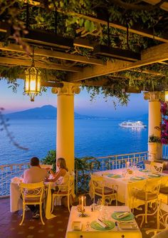 """""""La Pergola"""" at Bellevue Syrene is without any doubt the most romantic restaurant in Sorrento..."""