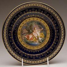 Meissen reticulated plate after Boucher