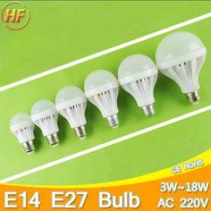 Cao Bright E14 E27 Đèn LED 220 v Bóng Bulb LED Light bulb 3 Wát 5 Wát 7 Wát 9 Wát 12 Wát 15 Wát 18 Wát Lampara Bombilla Ampoule spotlight SMD5730