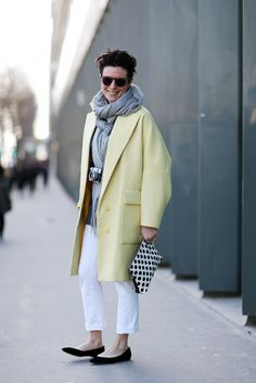 How To Dress Like A French Girl #refinery29  http://www.refinery29.com/63682#slide62  The citrus juice is worth the squeeze! Work in lemon and lime colors in light staples.