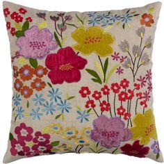 Buy John Lewis Gorgeous Blossom Cushion, Multi online at JohnLewis.com - John Lewis