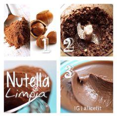 Receta rica y facil para hacer Nutella Limpia (light) y saludable.. Desde mi Blog!