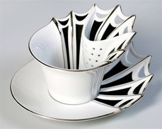 Porcelain teacup from the collection of Blanka Matragi, famous Czech fashion designer.