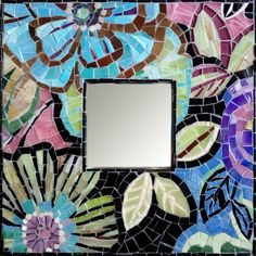 Decorative mirror Flower mosaic