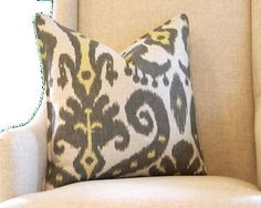 Graphite Marrakesh Pillow Cover 18 by Graceandlondonmaison on Etsy