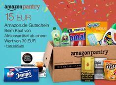 Gratis: Amazon-Gutschein über 15 Euro für Pantry-Bestellung ab 30 Euro http://www.discountfan.de/artikel/essen_und_trinken/gratis-amazon-gutschein-ueber-15-euro-fuer-pantry-bestellung-ab-30-euro.php Amazon hat kurz vor Weihnachten die Spendierhosen an: Wer jetzt eine Pantry-Bestellung im Wert von mindestens 30 Euro aufgibt, wird mit einem Amazon-Gutschein über 15 Euro belohnt. Gratis: Amazon-Gutschein über 15 Euro für Pantry-Bestellung ab 30 Euro (Bild: Amazon.de) Um d