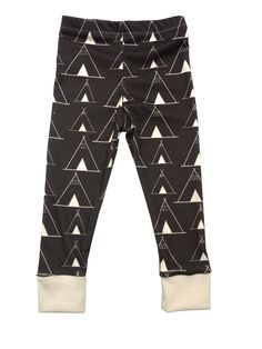 littlecocoabean | teepees in charcoal organic cotton leggings | Online Store Powered by Storenvy
