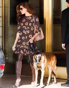 Eva Mendes wearing Ch Carolina Herrera Matryoshka Bag.